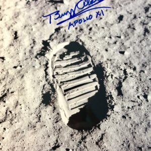 Aldrin's boot print on the lunar surface 8x10