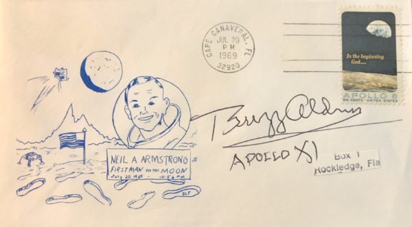 Artwork of Neil Armstrong and Apollo 11 Cover