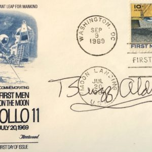 Autographed by Buzz Aldrin First Men on the Moon Cover Postmarked July 20 1969