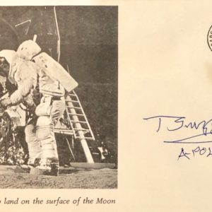 Cover with Apollo 11 Astronauts with Apollo 8 Stamp Postmarked July 20, 1969