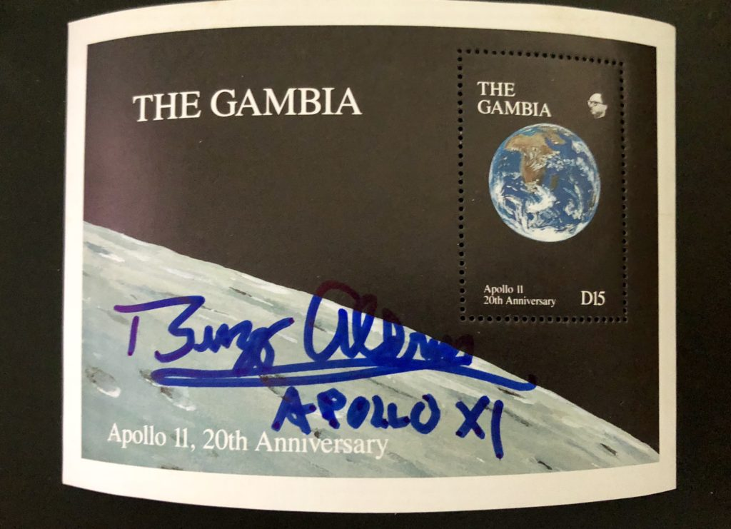 Autographed, Vintage, Apollo 11 The Gambia Stamp Presentation