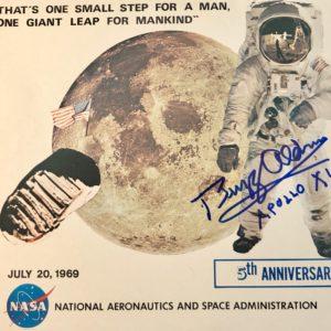 NASA 5th anniversary lithograph With Apollo astronaut Buzz Aldrin