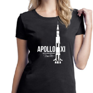 WOMEN'S SATURN V ROCKET – 50TH ANNIVERSARY TEE-SHIRT