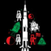 Space Rocket Christmas Tree Apollo 11 Happy Holidays space gift